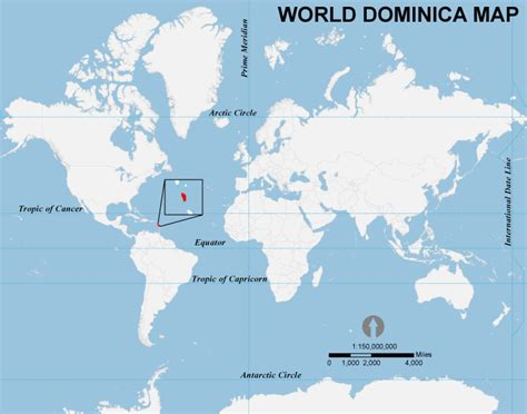 dominica on world map world dominica map dominica location in world