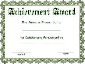 achievement awards templates excellent achievement award template word exle with
