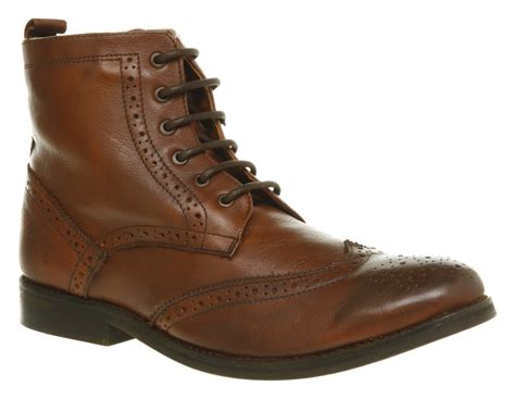 mens ask the missus operation brogue brown boots shoes ebay
