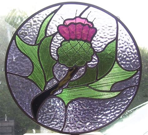 Scottish Thistle stained glass   Stain Glass Patterns