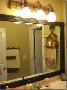 Framing Bathroom Mirror Ideas Framing Those Boring Mirrors Southern Hospitality