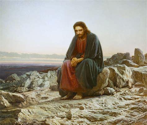 christ   desert iwan nikolajewitsch kramskoi  art