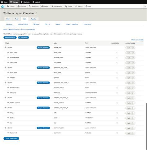 drupal theme webform webform layout container drupal org