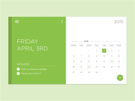 material design calendar ui psd task calendar widget free psd download download psd