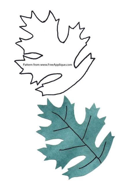 printable leaf patterns for applique quilting crafts or