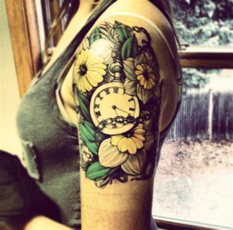 arm tattoo healing time tattoo cute pocketwatch time colour halfsleeve