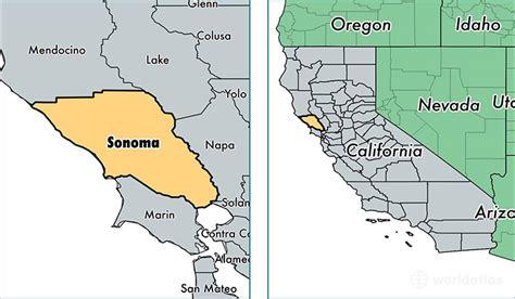 california map sonoma sonoma california map california map