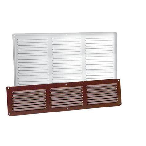 vent lowes shop master flow undereave 16 in l brown aluminum soffit