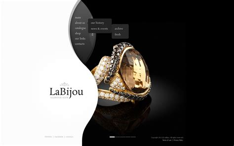 free ppt templates for jewellery jewelry website template 40764