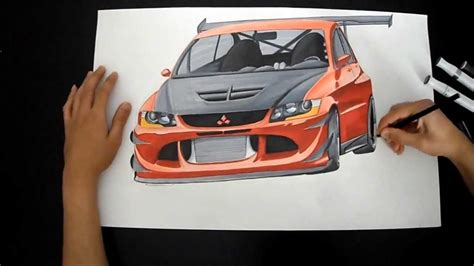 mitsubishi evo drawing mitsubishi lancer evo 8 drawing