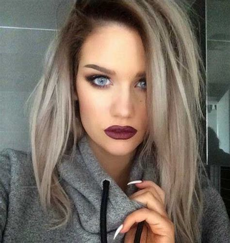 ideas for grey roots as a brunette grey hair dark brown lowlights hairstylegalleries com