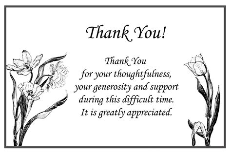 thank you card funeral template printable thank you cards free printable greeting cards