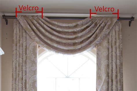 Hanging Curtains On Poles Designs How To Install Flip Pole Style Swag Valances