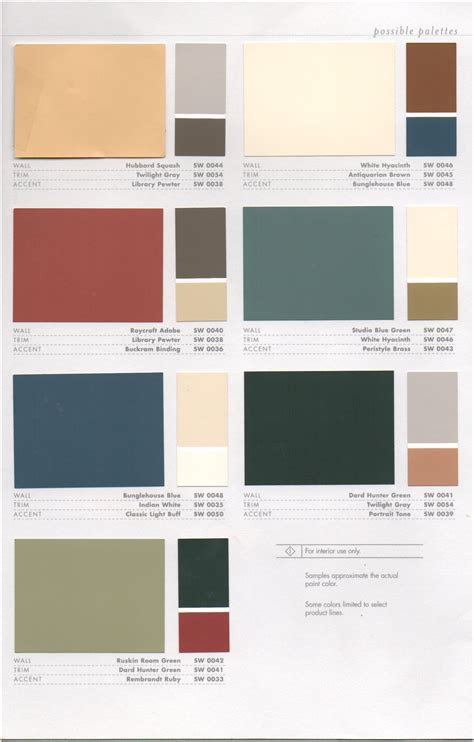 paint colour schemes historic paint colors pt 1 como bungalow