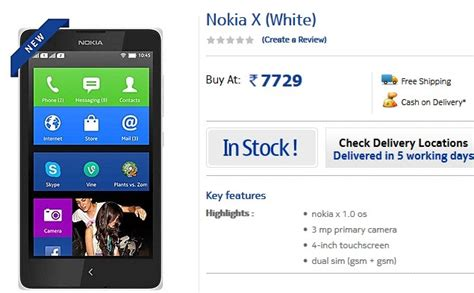 nokias first android phone priced at 110 in vietnam liliputing nokia x dual sim android smartphone price dropped to rs