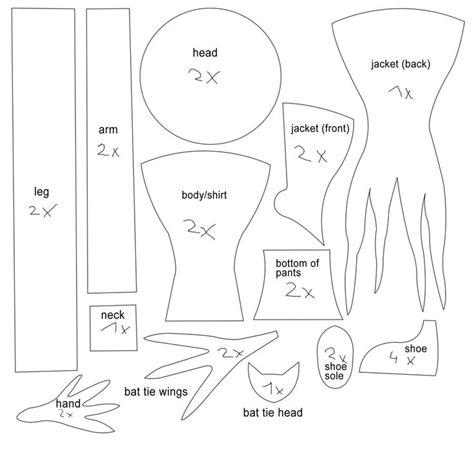zero nightmare before christmas sewing pattern jack from nightmare before christmas pattern kids ideas
