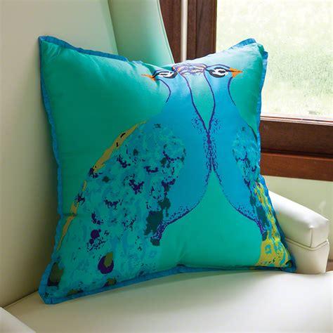 global pillows global views bassett peacock pillow aqua