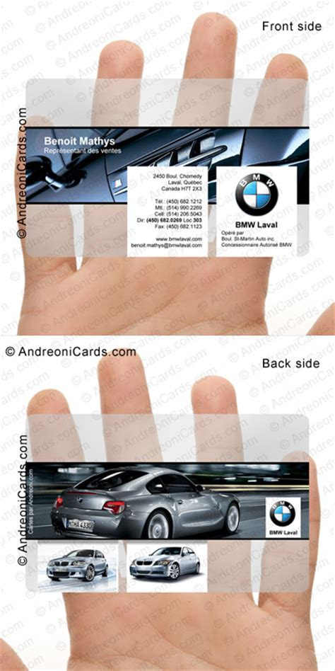 bmw business cards templates clear plastic business cards about