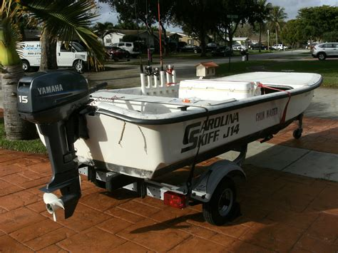 skiff engine carolina skiff j14 2005 for sale for 2 650 boats from