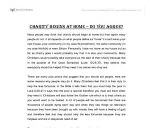 Essay About Charity by Charity Begins At Home Essay For School Original Content