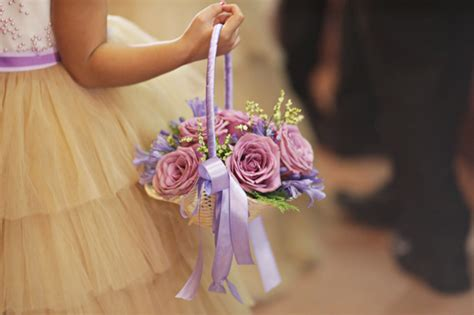 Flower Wedding Basket by Flower And Ring And Bible Bearers