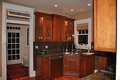 White Cupboards With Wood Trim - wood cabinets with white trim addition kitchen ideas