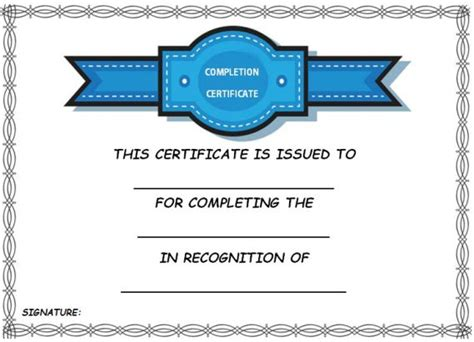 Cpe Certificate Template by Certificate Of Completion Template 55 Word Templates