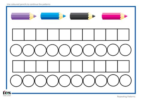 simple pattern worksheets ks1 patterns with 2 colours blank template 4 pdf