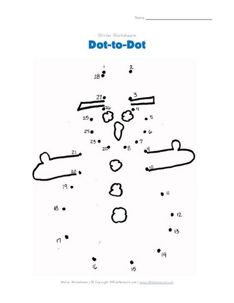 free printable dot to dot winter 4 best images of snowman printable connect the lines
