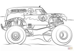 Grave Digger Coloring Page grave digger truck coloring page free printable
