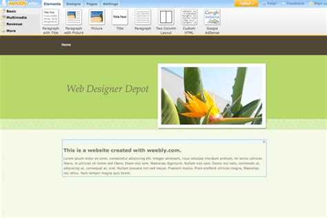 weebly design elements help 8 free design platforms to build your own site