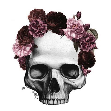 Flower Skull purple flower crown skull flower