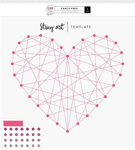 heart pattern string art stitchingtemplate heart 01 2 fancy free collection by