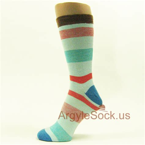 Id 289 Black White Stripe Dress teal striped mens gray socks with black grey