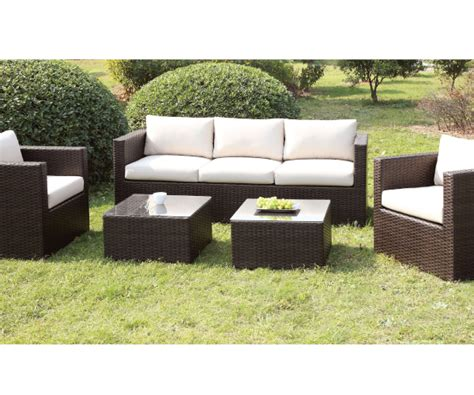 patio set with ottoman olina ivory 5 pieces patio sofa chairs set with ottomans