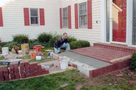 pavers porch add new pavers concrete porch