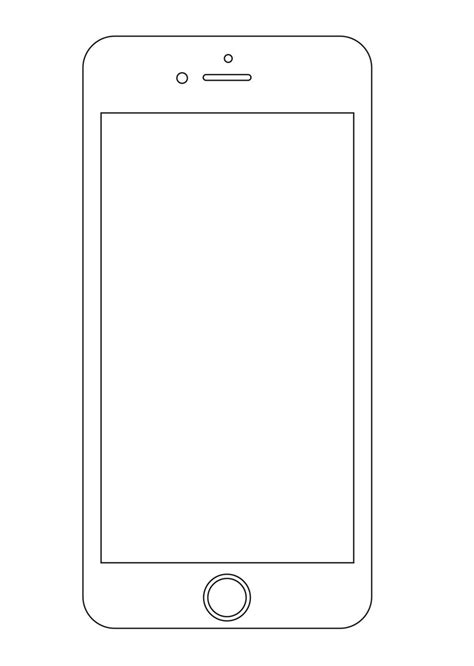 iphone blank template 25 outline mockups for wireframing presentation