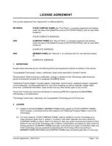 brand licensing agreement template license agreement form template sle form