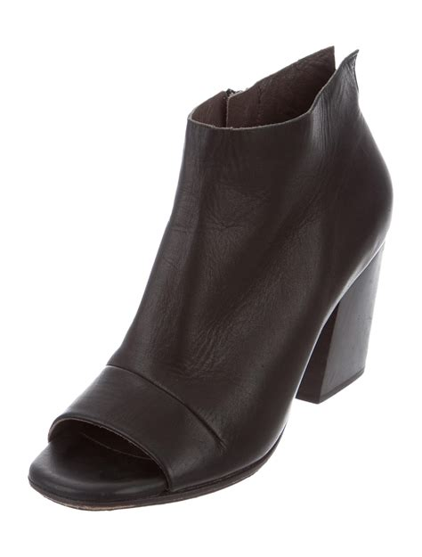 Peep Toe Booties Galore by Coclico Leather Peep Toe Booties Shoes W7u20042 The