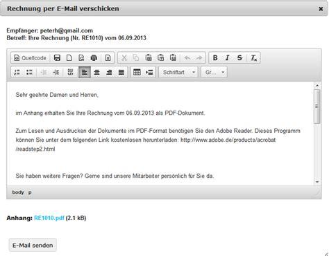 Muster Email Rechnung rechnungen erstellen und verwalten rechnungxxl de