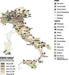 economic map of italy economic map our cartographers made italy