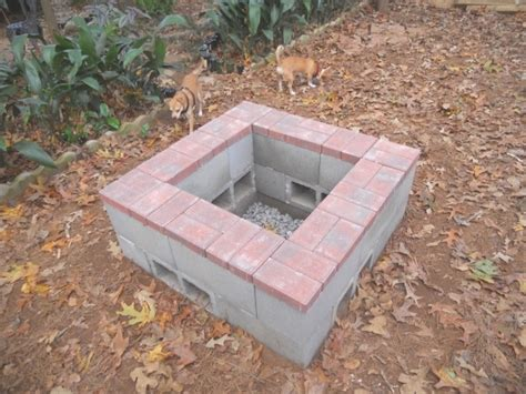 delightful cement block fire pit lenassweethome furniture
