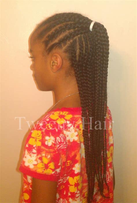 simple conrows tweeny hair simple cornrow style half up