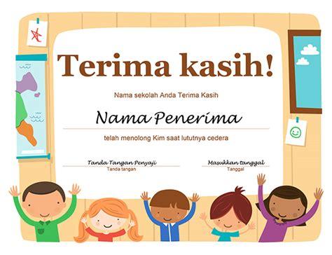desain kartu ucapan untuk guru sertifikat terima kasih office templates