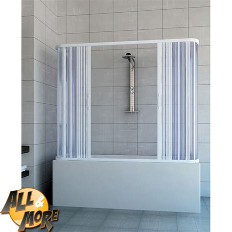 cabina doccia per vasca all more it box cabina doccia tre lati per vasca in pvc
