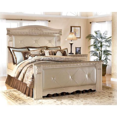 silverglade mansion bedroom set b174 98 ashley furniture silverglade bedroom queen mansion