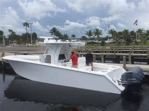 seahunter boat test seahunter boats initial sea trial test day on this