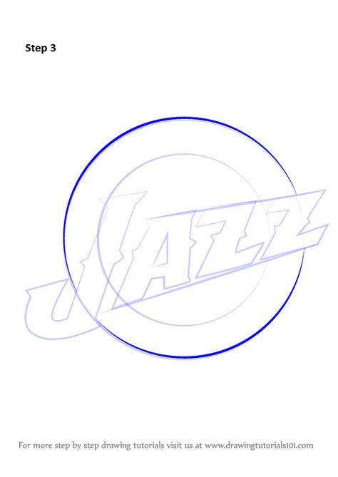 draw logo learn how to draw utah jazz logo nba step by step