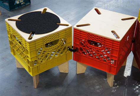 Milk Crate Furniture by The Xtool By Combo Collab Re Imagines The Milk Crate As
