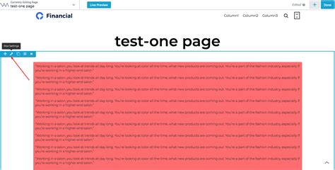 one page layout menu links vamtam beaver themes how to create one page layout